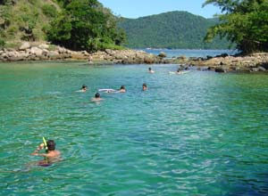 Swimming in Ilha Grande
