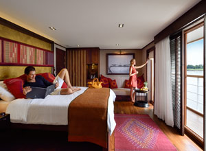 Settle in to your suite on Sanctuary Ananda