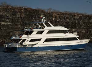 Eric yacht in the Galapagos