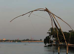 Cochin fishing nets, south India