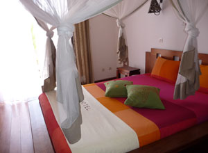 Bedroom at the IC Hotel