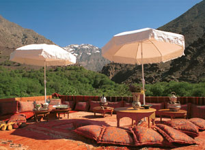 Relax on the terrace at Kasbah du Toubkal