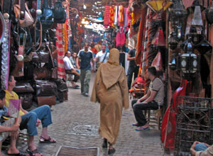 Go bargain hunting in the souks of Marrakech