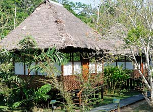 Heath River Lodge in the rainforest