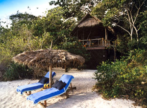 Relax on the beach at Fundu Lagoon