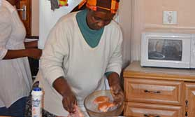 African cooking in a township