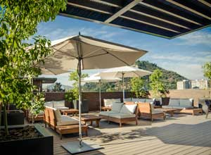 The Singular Santiago rooftop terrace
