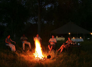 Relax round the camp fire
