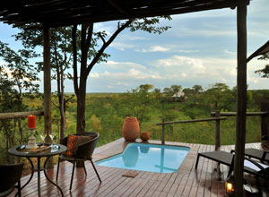Relax on your deck at The Elephant Camp