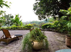 Enjoy the view from your terrace at Finca Rosa Blanca