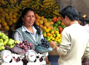 Shopping at Otavalo market