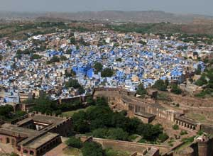 View from the fort over Jodhpur city