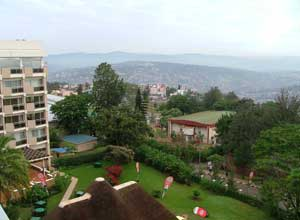 View from Hotel des Mille Collines in Kigali