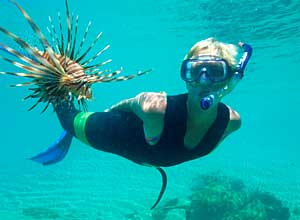 Snorkelling at Thonga Beach