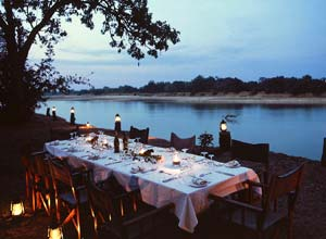 Dinner by the Luangwa River