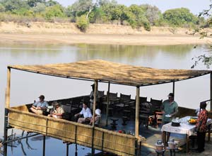 By the Luangwa River at Kaingo Camp, Zambia