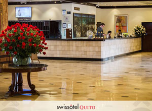 The lobby at Swissotel on Quito