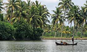 Enjoy the pace of life on the Kerala backwaters