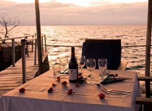 Dining by the lake at Kaya Mawa
