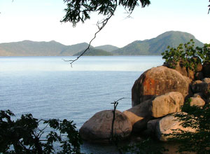 View of Lake Malawi from Mumbo Island
