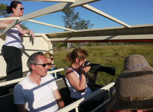 Game viewing on The Elephant Safari