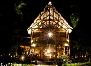 Refugio Amazonas at night