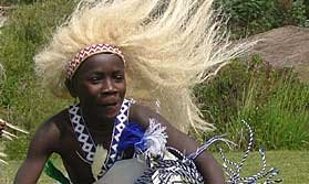 Dancer on a Rwanda tour