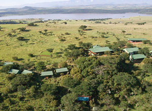 Aerial view of Three Trees Lodge