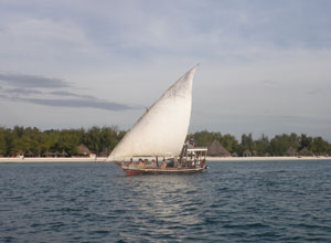 Take a dhow cruise while staying on Zanzibar
