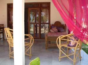 Private veranda at Echo Beach