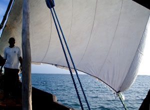 Take a dhow cruise at sunset