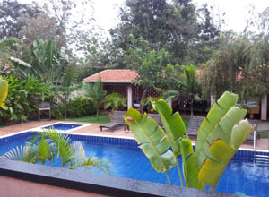 The pool at The Boma Guest House