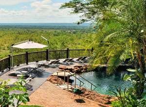 The pool at Victoria Falls Safari Lodge