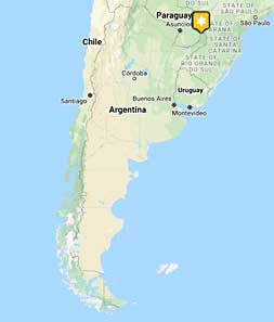 Mini map of argentina