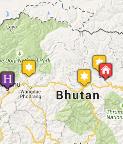 Mini map of bhutan