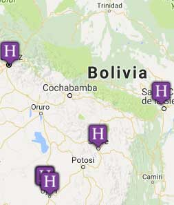 Mini map of bolivia