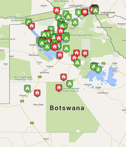 Mini map of botswana