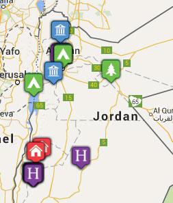 Mini map of jordan
