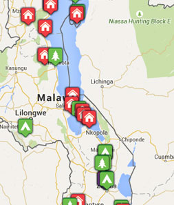 Mini map of malawi