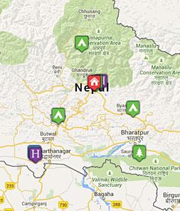 Mini map of nepal
