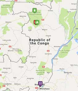 Mini map of congo