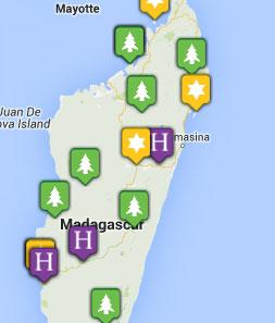 Mini map of madagascar