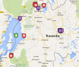 Mini map of rwanda
