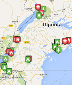 Mini map of uganda