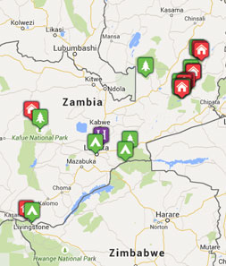 Mini map of zambia